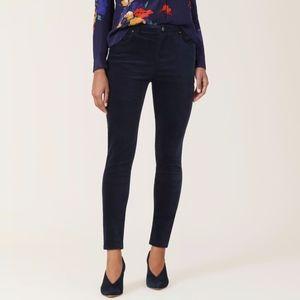 NYDJ High-Rise Blue Velvet Skinny Jeans